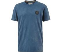 'wave Washed TEE SS' T-Shirt taubenblau