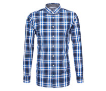Hemd 'Atlantic' blau / schwarz / weiß