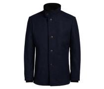 Markante Woll-Jacke blau