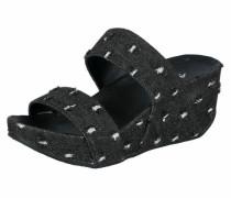Pantolette black denim