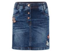 Jeansrock 'cute denim skirt with badges' blue denim