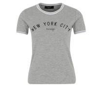 T-Shirt 'gudi' graumeliert / schwarz