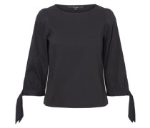 Feminine Bluse mit 3/4 Ärmeln schwarz