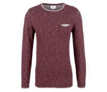 Pullover im Kontrast-Look dunkelrot