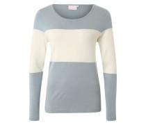 Pullover 'Sandie' taubenblau / weiß