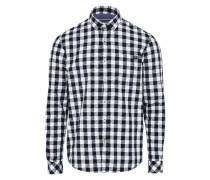 Karo-Hemd graphit / weiß
