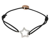Armband 'Shiny Star' schwarz / silber