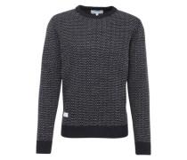 Pullover 'threedee' nachtblau / weiß