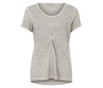 T-Shirt mit Schmetterlings-Applikation dunkelgrau