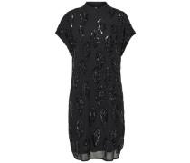 Kleid mit kurzen Ärmeln Pailletten
