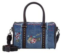 Bols Malta Jade Handtasche 29 cm blau / dunkelbraun