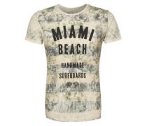 T-Shirt 'T Miami Beach round' beige