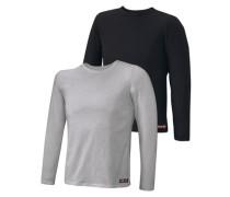 Langarmshirt (2 Stck.) grau / schwarz