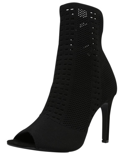 Bullboxer Damen Highheels in Strick-Optik schwarz