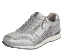 Sneaker im Metallic-Look silber