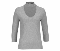 V-Shirt 'moster' graumeliert