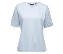 Shirt mit Lasercut blau
