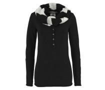 2-in-1-Pullover »Pullover & Schal« (Set 2 tlg. mit Schal) beige / schwarz
