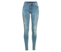 Skinny Jeans 'pcfive Delly 3.0 F115 MW SKN Lb/noos' blue denim