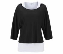 Strandshirt schwarz / weiß
