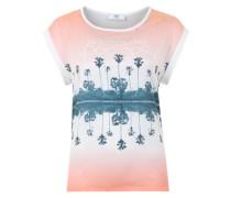 Ärmelloses T-Shirt 'Icepalm' mischfarben / weiß
