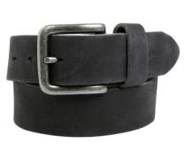 Maskuliner Ledergürtel im Vintage-Look schwarz