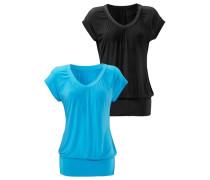 Shirt (2 Stück) blau / schwarz