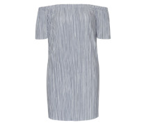 Plissée-Kleid mit Off Shoulder Design silber