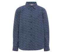 Langarmhemd Gemustertes blau