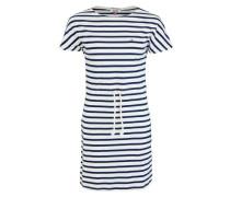 Kleid »Thdw EUR Strpd BN Knit Dress S/S 1« blau / weiß