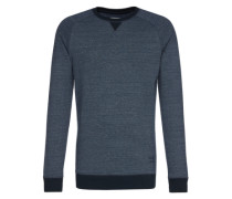 Sweater 'Melange Crewneck' blau
