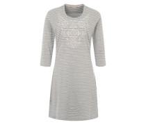Nachthemd mit Streifen hellgrau / weiß