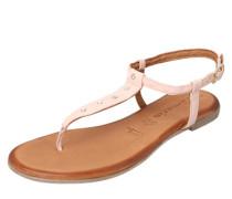 Zehentrenner-Sandale rosé / puder