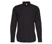 Hemd mit Haifsch-Kragen 'Cattitude' schwarz