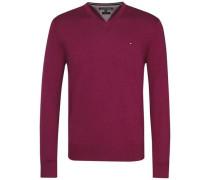 Pullover 'plaited CTN Silk V-Nk CF' magenta