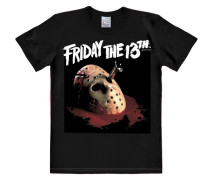 "T-Shirt ""Friday The 13th"" dunkelrot / schwarz / weiß"
