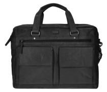 Bronco Aktentasche Leder 42 cm Laptopfach schwarz
