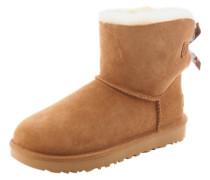 Boots mit Fell-Fütterung 'Mini Bailey Bow II' cognac