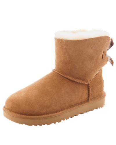 Boots mit Fell-Fütterung 'Mini Bailey Bow II' hellbeige