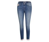 'Adriana' Ankle-Jeans blue denim