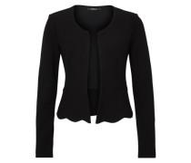 Jersey-Blazer mit Schößchen schwarz