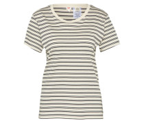 T-Shirt 'perfect Tee' creme / schwarz