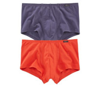 Retro Pants (2 Stück) »Advantage Men« dunkellila / orangerot