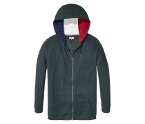Hilfiger Denim Sweatshirt »Thdw HD ZIP Hknit L/S 17« blau / grün / rot / weiß