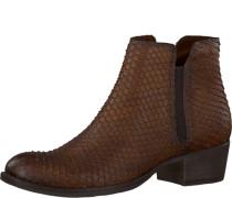 Chelsea Boots in Schlangenleder-Optik braun