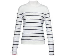 Pullover »Ivy STP Mock-Nk Swtr« schwarz / offwhite