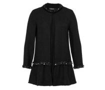 Lange Schößchen-Jacke schwarz