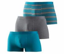 Bodywear Boxer (3 Stück) neonblau / graumeliert