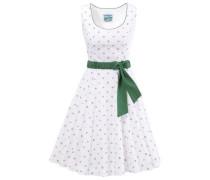 Trachtenkleid mit modischem Blumenprint grün / weiß