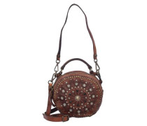 Bauletto Mini Bag Umhängetasche Leder 18 cm braun